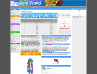 creatureworld.net screenshot