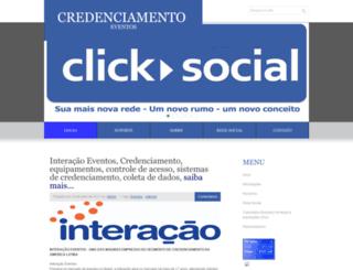 credenciamentoeventos.com.br screenshot