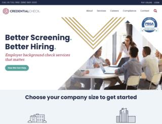 credentialcheck.com screenshot