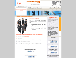 credentialevaluation.org screenshot