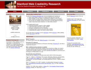 credibility.stanford.edu screenshot
