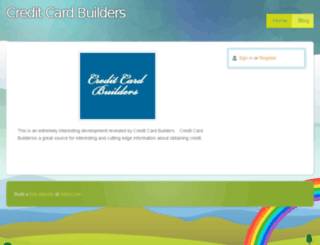 creditcardbuilders.webs.com screenshot