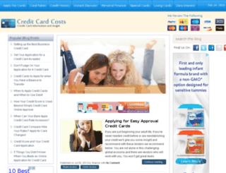creditcardcosts.com screenshot
