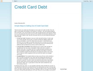 creditcarddebtx123.blogspot.com screenshot