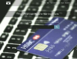 creditcardloginnow.com screenshot