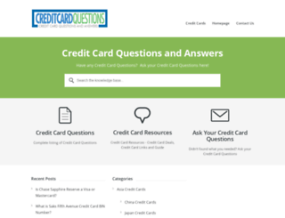 creditcardquestions.com screenshot