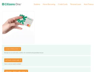 creditcards.citizensone.com screenshot