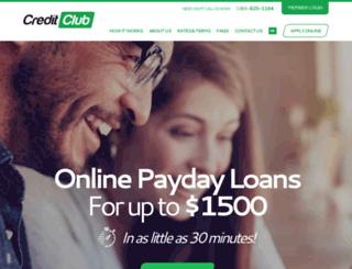 creditclubloans.com screenshot