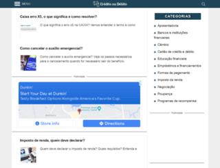 creditooudebito.com.br screenshot