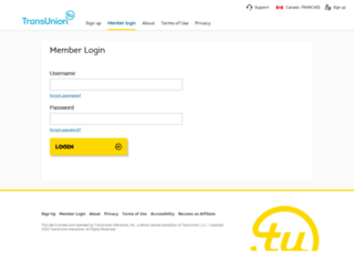 creditprofile.transunion.ca screenshot