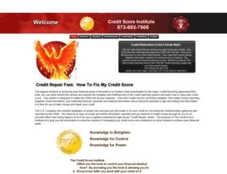 creditscoreinstitute.org screenshot
