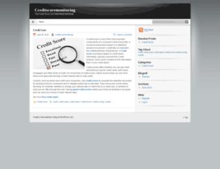 creditscoremonitoring.wordpress.com screenshot