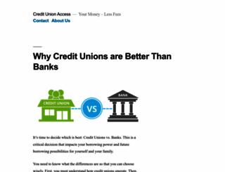creditunionaccess.com screenshot