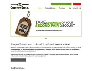 creditviewoptical.com screenshot
