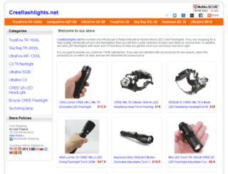 creeflashlights.net screenshot