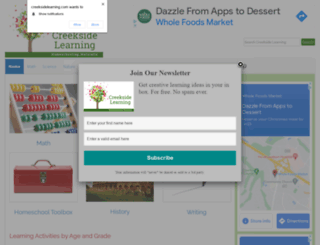 creeksidelearning.com screenshot