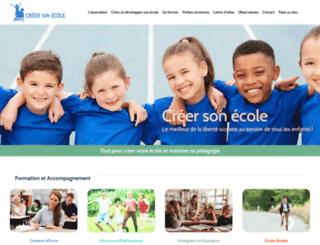 creer-son-ecole.com screenshot