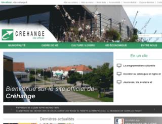 crehange.reseaudescommunes.fr screenshot