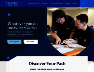 creighton.edu screenshot