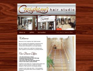 creightonshairstudio.co.uk screenshot