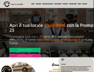 cremaecioccolato.org screenshot