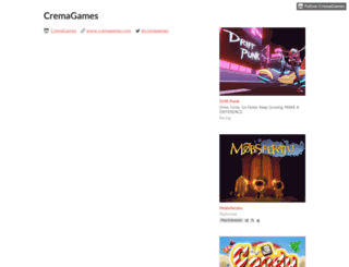 cremagames.itch.io screenshot
