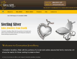cremation-jewellery.com screenshot