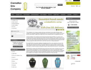 cremationurnscompany.com screenshot
