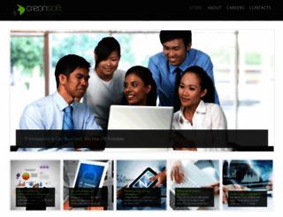 creonsoft.com screenshot
