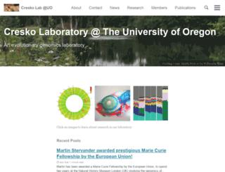 creskolab.uoregon.edu screenshot