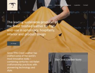 crestleather.com screenshot