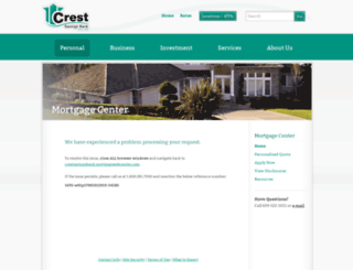 crestsavingsbank.mortgagewebcenter.com screenshot