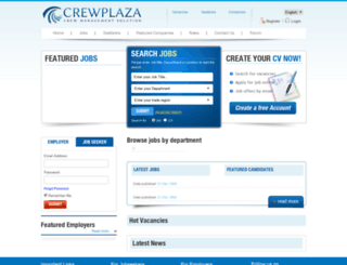 crewplaza.com screenshot