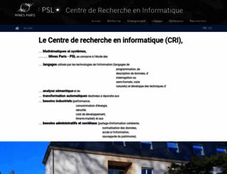 cri.ensmp.fr screenshot