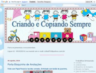 criandoecopiandosempre.blogspot.com screenshot
