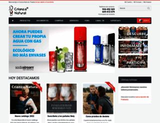 crianzanatural.com screenshot