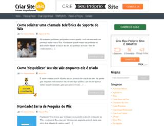 criarsitewix.com screenshot