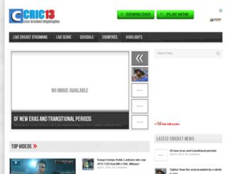 cric13.com screenshot