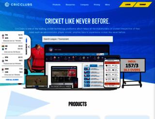 cricclubs.com screenshot