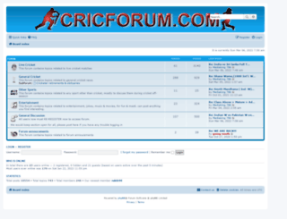 cricforum.com screenshot