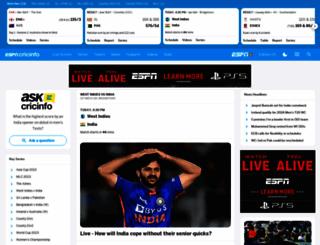 cricinfo.com screenshot