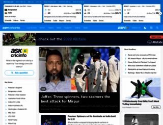 cricinfomobile.com screenshot