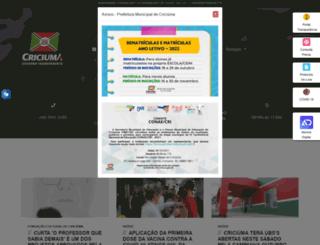 criciuma.sc.gov.br screenshot