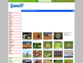 cricket-games.game37.net screenshot
