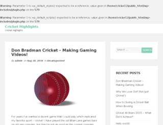cricket-highlights.com screenshot