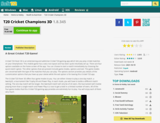 cricket-t20-fever-3d.soft112.com screenshot