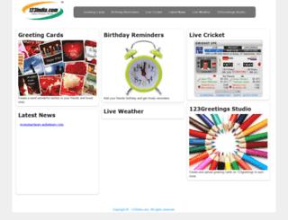 cricket.123india.com screenshot