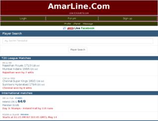cricket.amarline.com screenshot