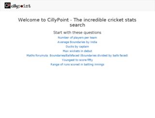 cricket.cillypoint.com screenshot