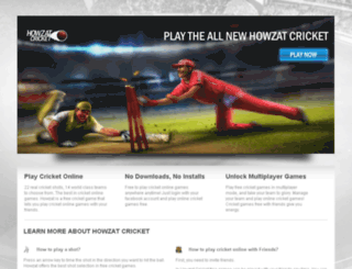 cricket.howzat.com screenshot